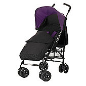 Obaby Atlas Black & Grey Stroller with Black Footmuff - Purple