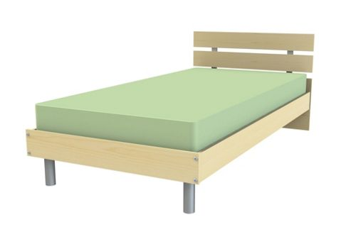 Ashcraft Matrix Bed Frame - Beech - Double (4' 6