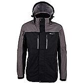Cairn Mens 3 Layer Hooded Waterproof Breathable Sporty Jacket Coat - Black