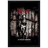 Slipknot Black Wooden Framed The Gray Chapter Poster