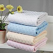 Clair De Lune Dimple Pram Blanket - Pink