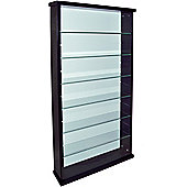 Exhibit - Solid Wood 6 Shelf Glass Wall Display Cabinet - Black