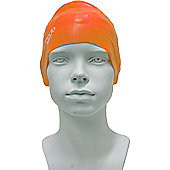 Speedo Junior Plain Moulded Silicone Swimming Cap - Orange