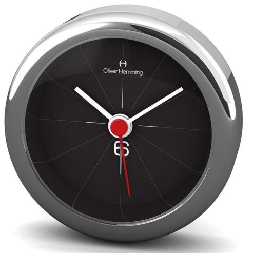 Oliver Hemming Alloy Desire Alarm Clock - 5.8cm - Black