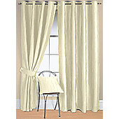 Jazz Ready Made Eyelet Curtain - Ivory