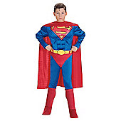 Rubies UK Deluxe Muscle Chest Superman- TODDLER