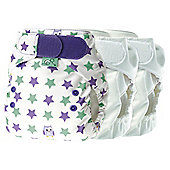 Tots Bots Mini 3 Pack Easyfit Night Owl Reusable Nappies