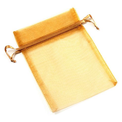 Organza Drawstring Pouch 15x20cm - Golden