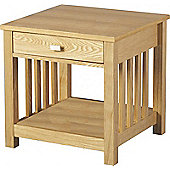 Ashmore 1 Drawer Lamp Table Ash Veneer
