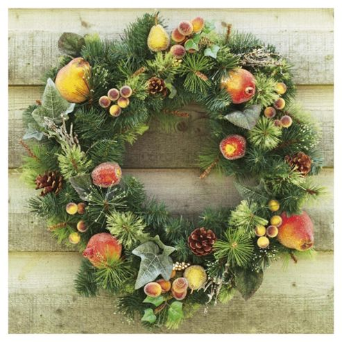 Tesco 24inch Wreath with Fruit