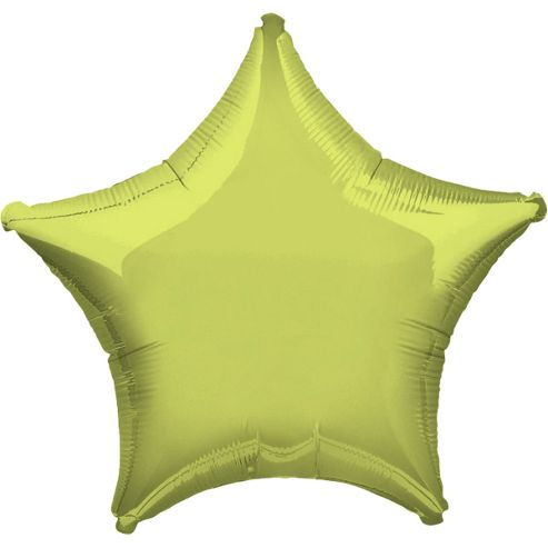 Lime Green Star Balloon - 19' Foil (each)