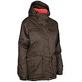 June Womens Winter Ski Snowboarding Hooded Warm Padded Waterproof Jacket Coat - Brown