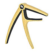 Tiger Capo for Guitar - Quality Acoustic & Electric Trigger Capo - Light Wood