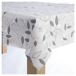 Wipe Clean Tablecloth, Leaf Print, Large