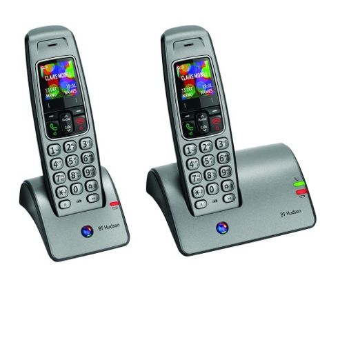 Hudson 1100 DECT Cordless Phone Twin Pack
