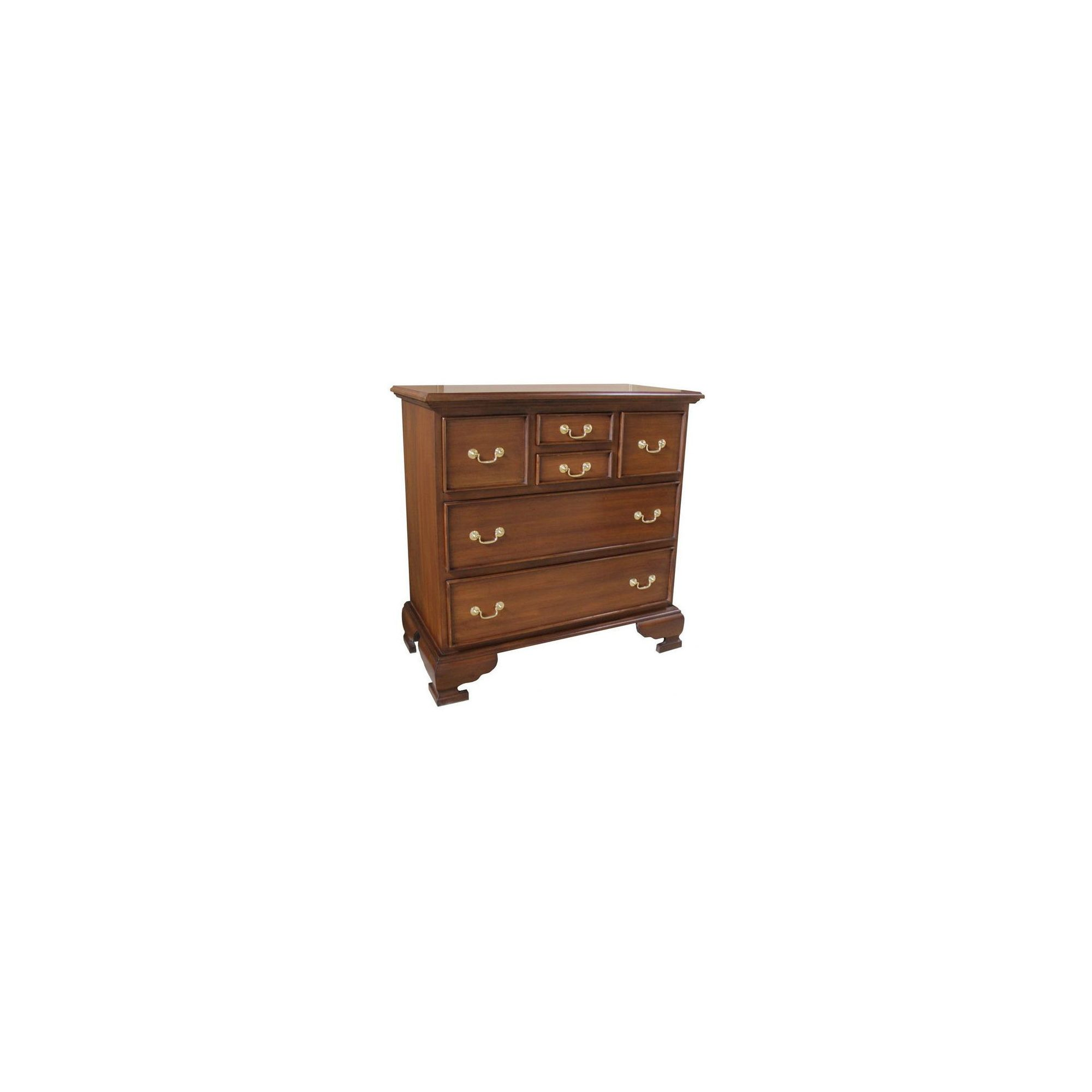 Lock stock and barrel Mahogany 4 Over 2 Drawer Chest - Wax at Tesco Direct