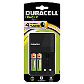 Duracell 4 Hr   Battery Charger 2AA Rchg Battery