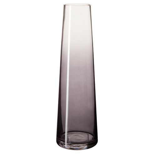 buy tesco taper vase smoke tall from our vases bowls. Black Bedroom Furniture Sets. Home Design Ideas