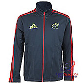 "Adidas Munster Rugby Union Player Issue Fleece Zipped Jacket 2XL 46-48"" chest"