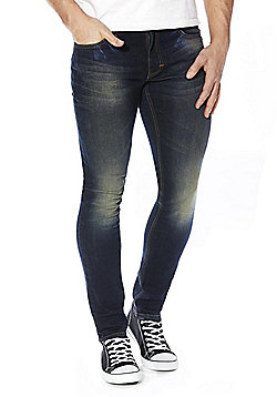 F&F Indigo Tint Skinny Stretch Jeans - Indigo tint