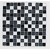 Shades of Grey Mix Glass Mosaic 300x300mm