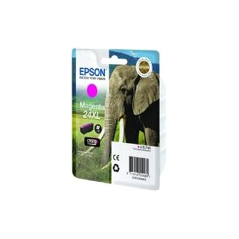Epson Elephant 24XL (RF/AM) High Capacity (Yield 740 Pages) Ink Cartridge (Magenta) for Epson Expression Photo: XP-750 / XP-850