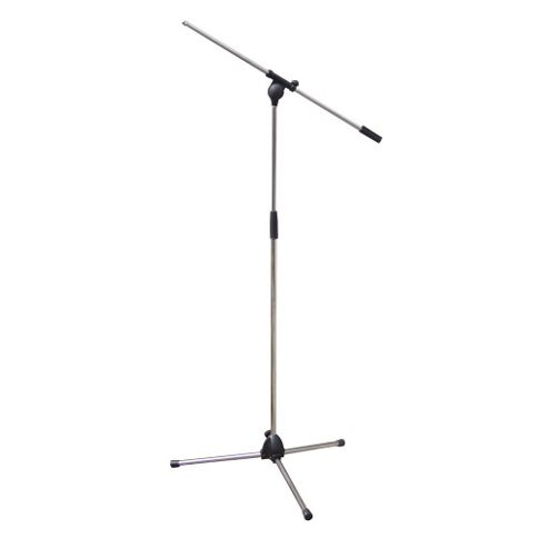 Adjustable Boom Arm Microphone Mic Floor Stand Chrome
