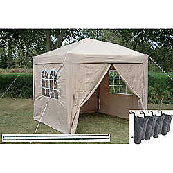Airwave Pop Up Gazebo Fully Waterproof 2.5x2.5m in Beige