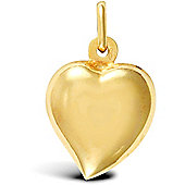 Jewelco London 9ct Yellow Gold Heart Charm