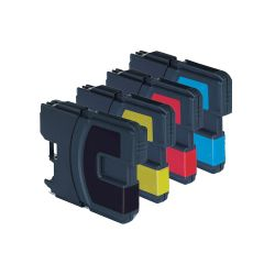 4 Compatible Ink Cartridges for Brother DCP 377CW - Cyan / Magenta / Yellow / Black (Capacity: 92ml)