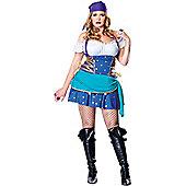 Gypsy Princess Fancy Dress Costume (Plus Size)