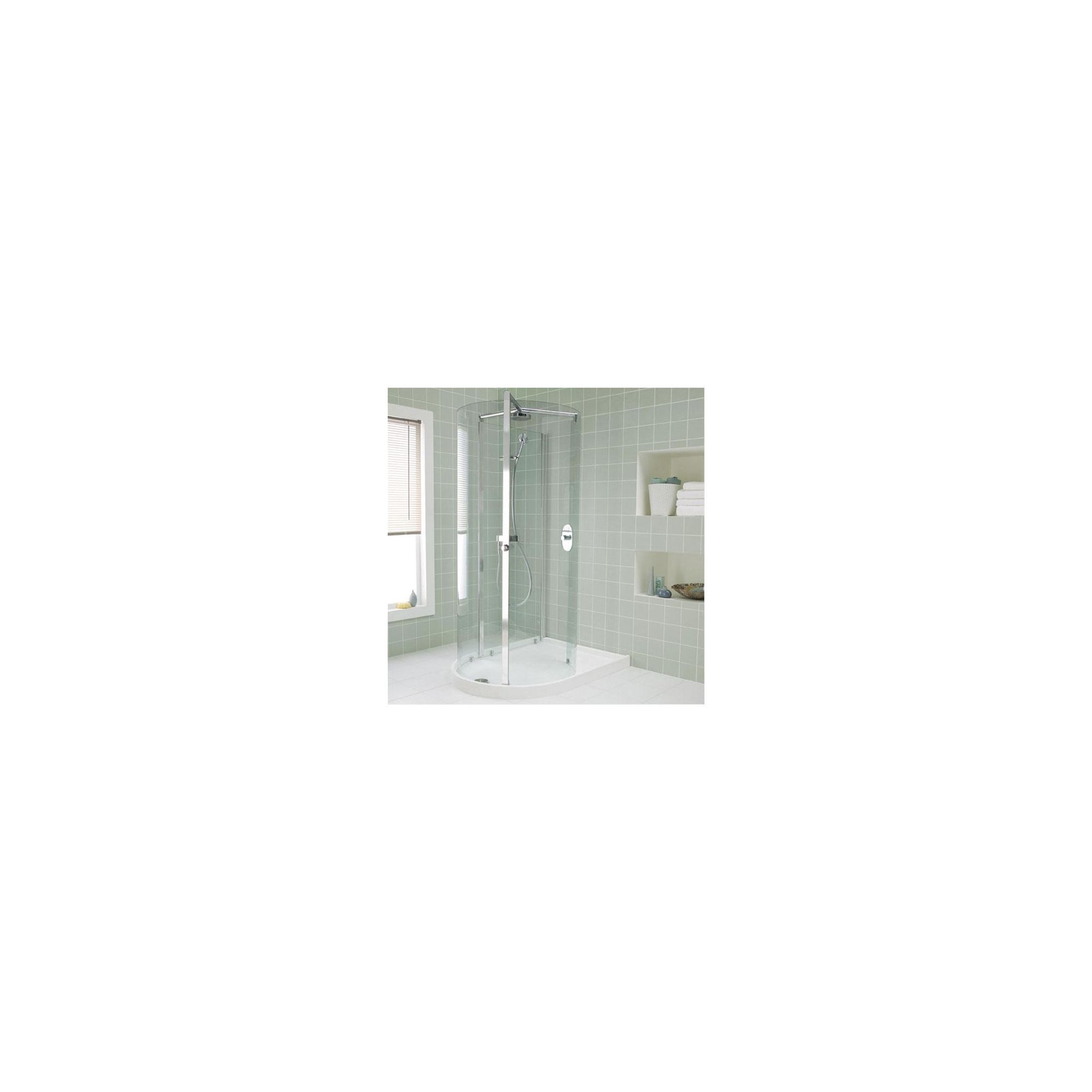 Ideal Standard Serenis Corner 360 Degree Shower Enclosure, including Fittings, 1700mm x 1100mm, Low Profile Tray, Left Handed at Tesco Direct