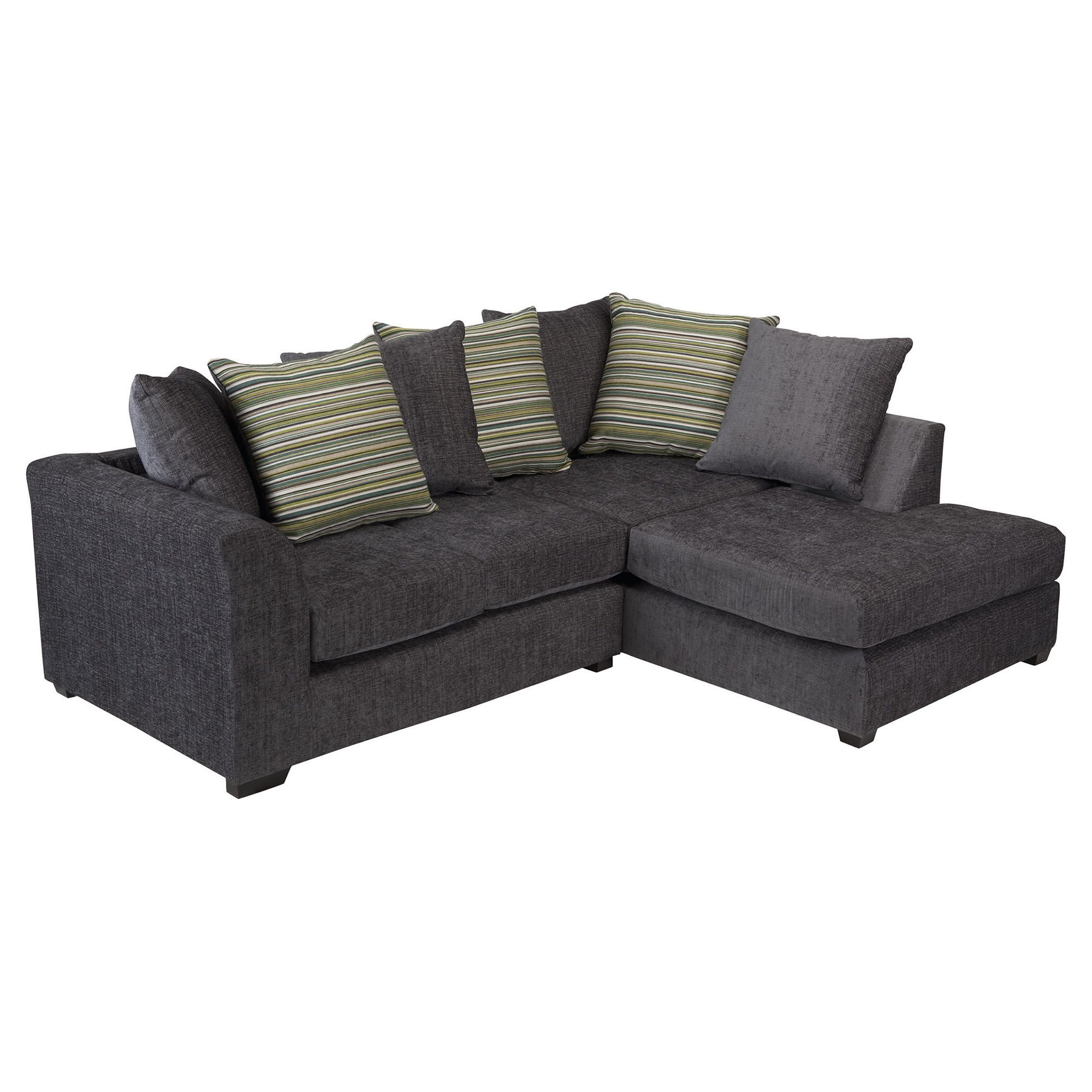Toronto Fabric Corner Sofa Right Hand Facing, Charcoal at Tescos Direct