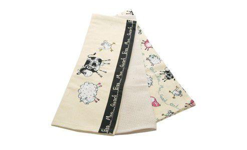 Price & Kensington Home Farm Set of 3 Tea Towels
