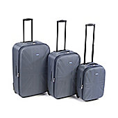 Set of 3 piece Grey Eva Moulded Luggage
