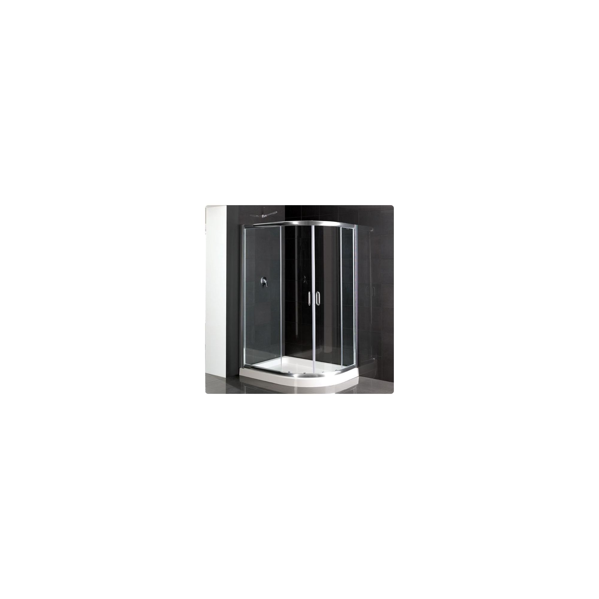 Duchy Elite Silver Offset Quadrant Shower Enclosure (Complete with Tray) 1000mm x 800mm, 6mm Glass at Tesco Direct