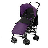 Obaby Atlas Black & Grey Stroller with Purple Footmuff/Purple Hood