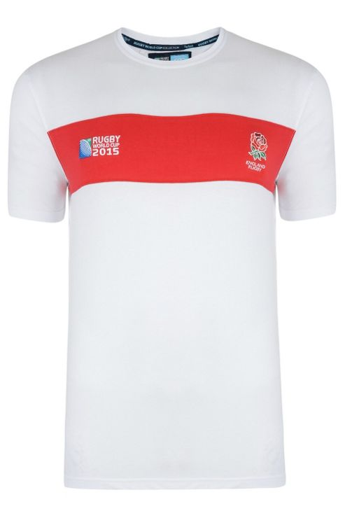England Rugby Chestband T-shirt - White