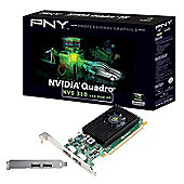 PNY NVS 310 Graphics Card nVidia Quadro NVS 310 512MB PCI-E DisplayPort