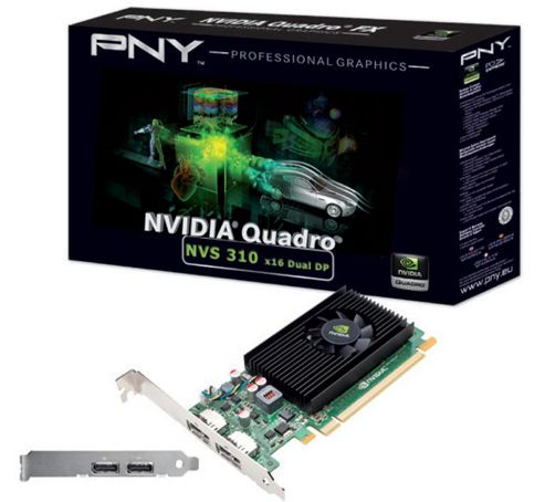 PNY NVS 310 Graphics Card nVidia Quadro NVS 310 512MB PCI-E DisplayPort