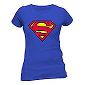 Superman - Logo Fitted T-shirt Royal Blue Ex Large - Film and TV T-Shirts