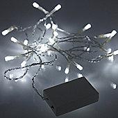 20 White LED Multi Function Battery Fairy Lights