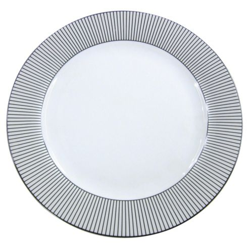 Tesco Pinstripe Porcelain dinner plate