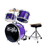Music Alley 3 Piece Junior Drum Kit - Purple