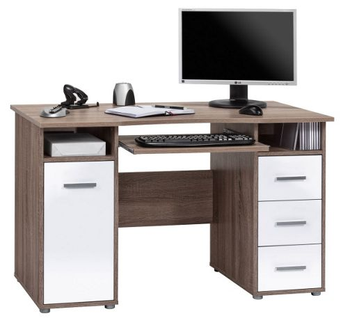 Buy maja camden truffle oak computer desk from our office desks tables range tesco - Tesco office desk ...