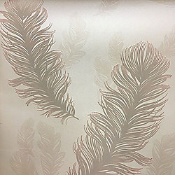 Precious Metals Sirius Feathers Wallpaper - Rose Gold - Arthouse 673600