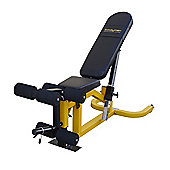 Bodymax CF510 Elite Utility Flat-Incline-Decline Bench with Leg Curl and Preacher