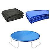 12 Ft Trampoline Accessory pack - Cover, Blue Pad and Netting