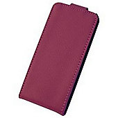 "Tortoiseâ""¢ Genuine Leather Flip Case iPhone 5. Pink"
