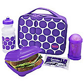Smash 5 Piece Lunch Set, Purple Spots